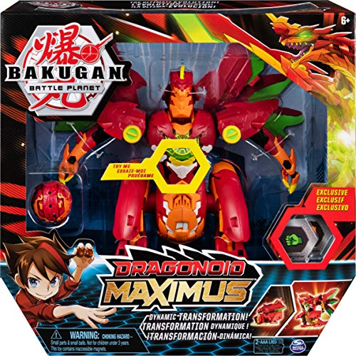 Bakugan Dragonoid Maximus 20.3cm Transforming Figure with Lights and Sounds, for Ages 6 and Up