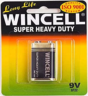 Wincell Super Heavy Duty 9V Battery, 1 Count (Pack of 1)