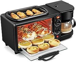 grille-pain Four électrique 3 en 1 four 9L four à pain four à pizza 60 0ml Machine à café non-bâton poêle à frire automati...