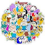LMY 50 unids American Animation Jake y Finn Adventure Time con Adventure Cartoon Time Graffiti Sticker equipaje impermeable