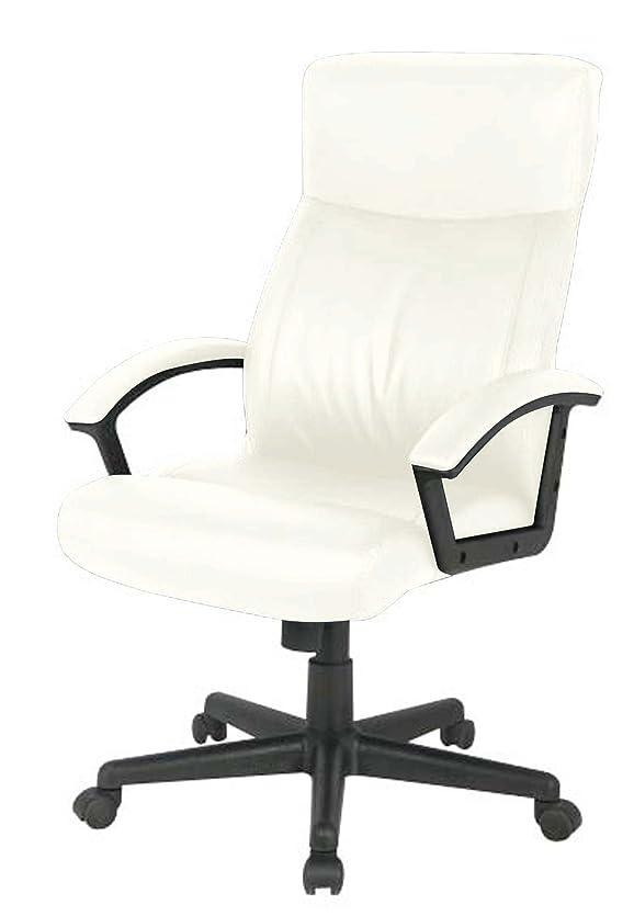 柔らかい期間マニアナカバヤシ レザーオフィスチェア デスクチェア 椅子 ハイバック アイボリー CNL-601IV
