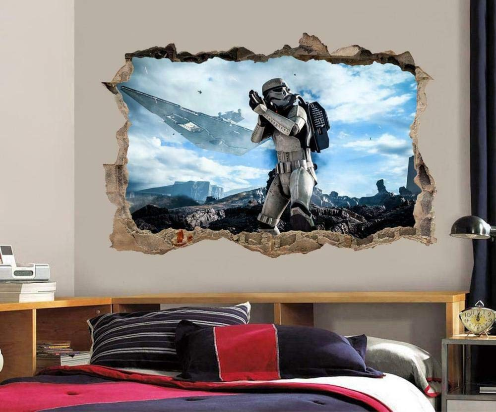 Max 59% OFF overseas DDSYJ 3D Wall Stickers Planet Empire Smashing Stormtrooper