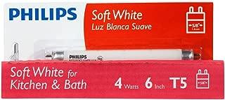 Philips 392183 Linear Fluorescent 4-Watt 6-Inch T5 Soft White Light Bulb