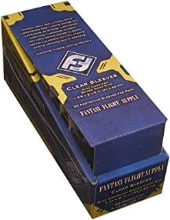 Fantasy Flight Games 500 Mini American Board Game Size Sleeves - 10 Packs + Box - Small Usa - Ffs01 41 X 63