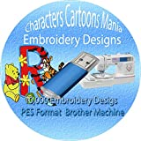 11,000+ Children Characters Famous Cartoon Embroidery Designs Machine Pattern Designs Brother PES File 1GB USB Memory New