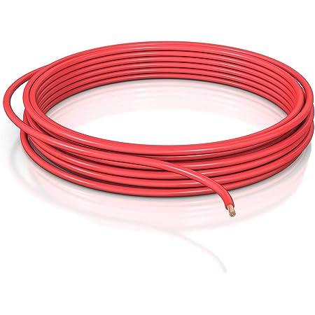 Dcsk 10mm 2m Fahrzeugleitung Flry B Asymmetrisch Kfz Kabel Litze Rot 2 M Ring Baumarkt