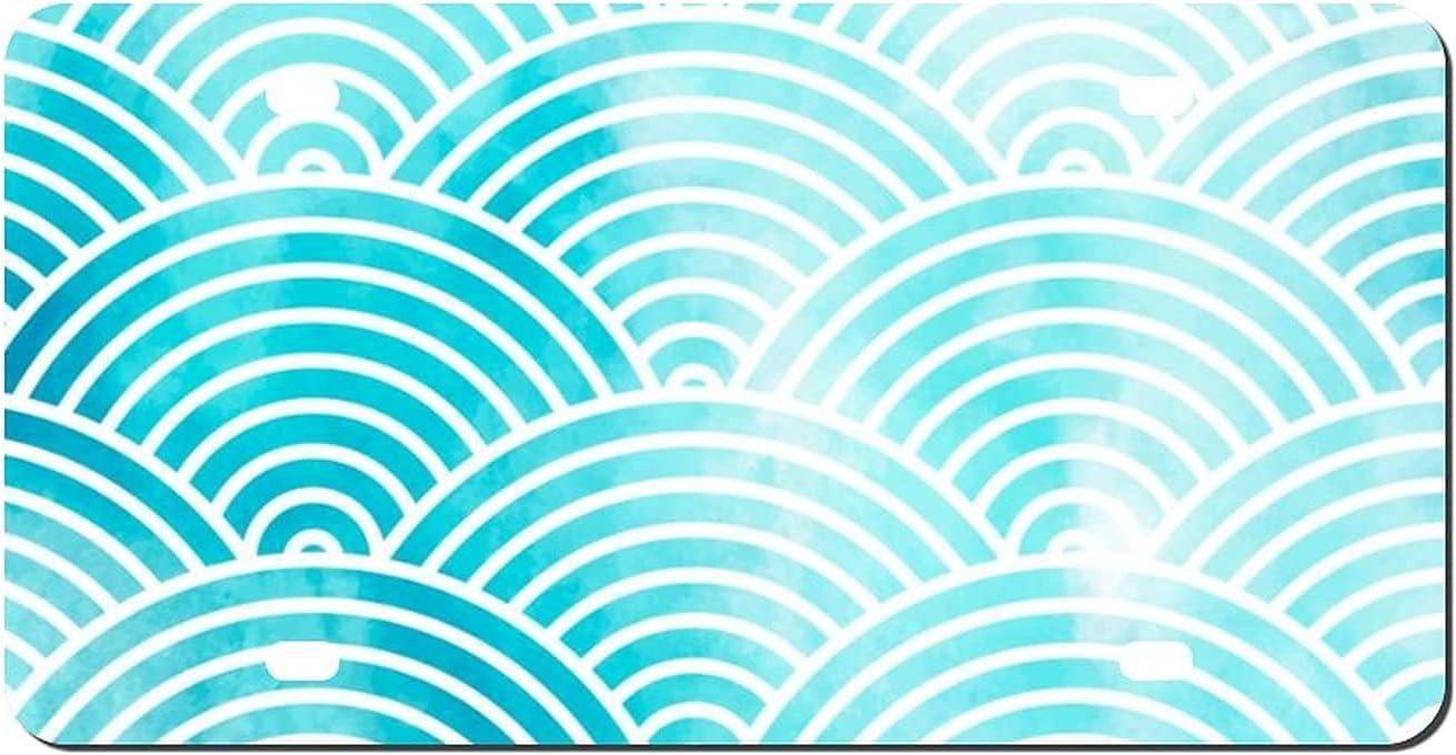 yiliusu Geometric Joining Together Latest item Aluminum Oakland Mall Vanity Front Lic tag