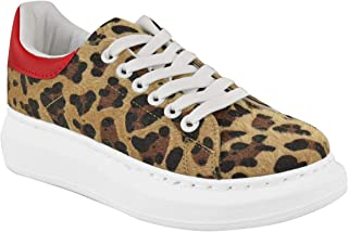 Fashion Thirsty Womens Ladies Leopard Animal Oversize Sneakers Trainers Alex Designer Shoes New