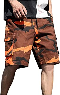 Men Camouflage Printed Shorts Sports, Male Summer Outdoors Casual Pants Overalls Plus Size Sport Shorts Pants