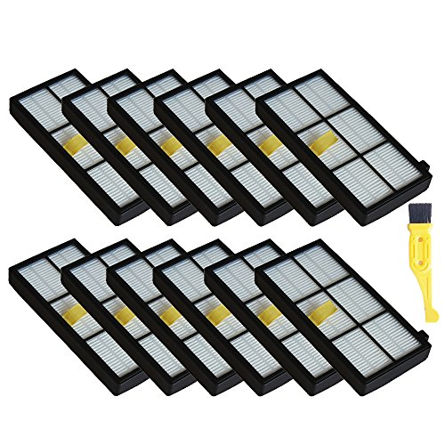 MZY LLC 12 Pack Hepa Filter Filters Replacement For irobot Roomba 800 900 series 860 870 871 880 960 980 Robotic Vacuum Parts