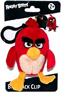Angry Birds Movie Clip On Plush, Red