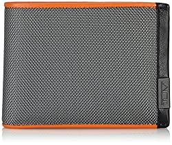 9dc099b90fc6cd Tumi Alpha Brieftasche mit zwei Scheinfächern ohne Münzfach in Orange und  Schwaz aus Nylon und innen Leder