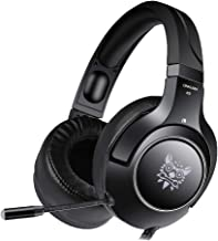 Ceppekyy Gaming Headset Compatible with PS4, PC, Xbox One, Surround Sound Over-Ear Headphones,Noise Cancelling Mic Soft Memory Earmuffs