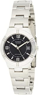 Casio Women's Black Dial Stainless Steel Analog Watch - LTP-1241D-1ADF