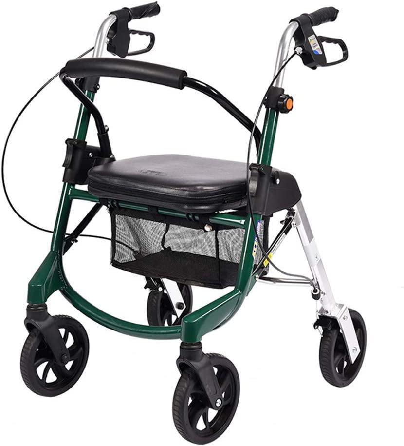 QIQIZHANG Walkers for Max 80% OFF Seniors Wheelchair favorite Heig Adjustable Folding