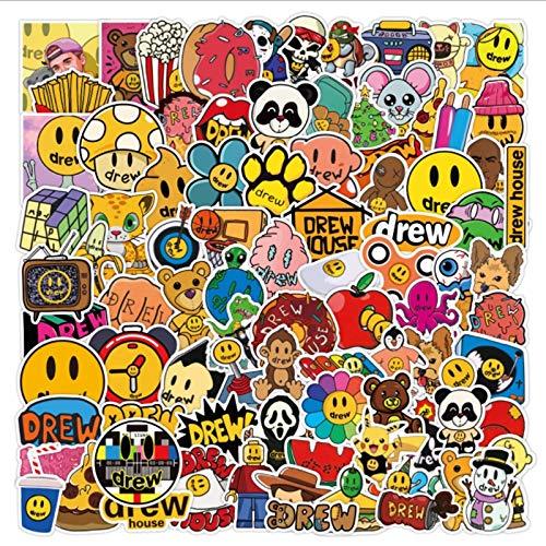 PMSMT 103 Piezas Justin Bieber Graffiti monopatín Impermeable Maleta de Viaje teléfono portátil Equipaje Pegatinas Lindos Juguetes para niñas y niños
