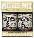 Miners Mix Steak and Veggie All Purpose Low Salt Seasoning Rub For Grilled, BBQ, Smoked, or...