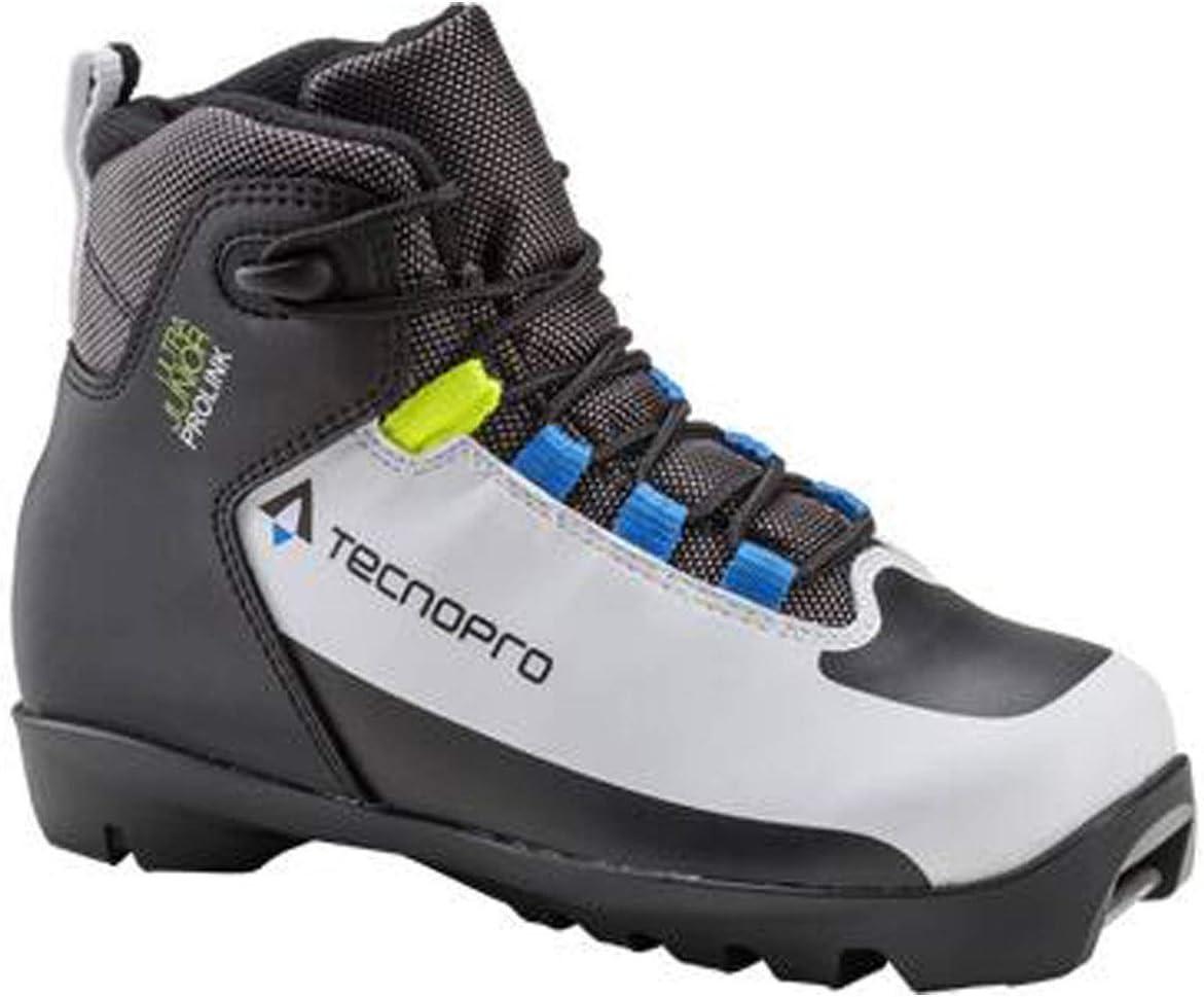 Tecno Pro Ultra Prolink - Zapatillas de esquí para niños, Infantil, Botas de esquí de Fondo, 270424900210, White Black Royal, 1