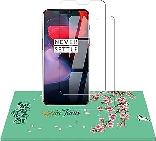 Oneplus 6 極薄 強化ガラスフィルム 液晶保護 フィルム【2枚セット】2.5D丸縁加工/旭硝子/高感度/高透過率/ 9H硬度傷/無気泡/指紋防止/飛散防止フィルム厚0.26mm (Oneplus 6)