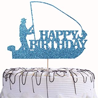 Download Amazon Com Fishing Cake Topper For Birthday