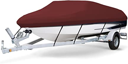 7 oz Solution Dyed Polyester Maroon, Styled to FIT Boat Cover for Crest Family Fisherman 22 1995-2008