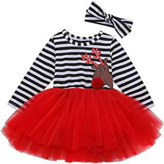 Baby Halloween Outfits Kids Girls Pumpkin Print Long Sleeve Dress Striped Skirts Thanksgiving Day Clothes