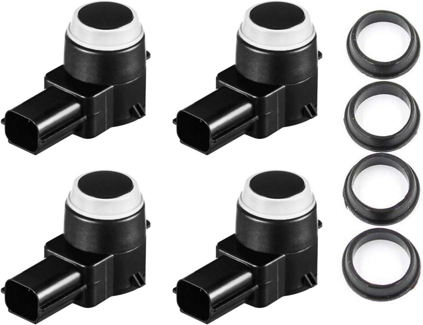 PDC Sensor Park Assist Reverse Backup Object Sensor w//Black /& Clear O-ring Fits Rear Bumper On Select 2006-2017 GM Vehicles Replaces OEM 15239247 25962147 1