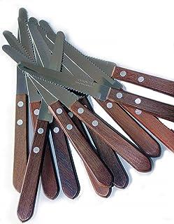 Tramontina - Juego de 12 cuchillos mango madera hoja acero i