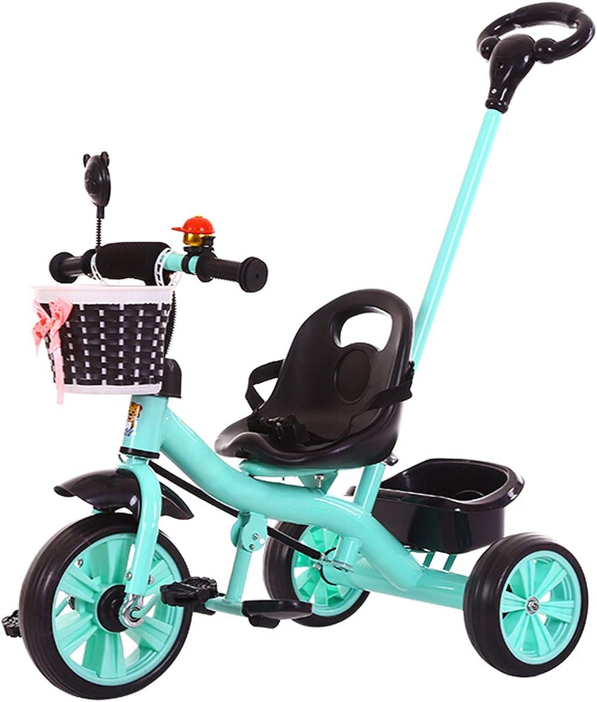 NBgy Dreirad, Faltpedal Multifunktions-Dreirad Push-Pull Für Kinder, Baby-Auen-Dreirad, 3 Farben, 75x88x58cm
