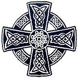 Cruz celta irlandesa gótica druidas Wicca pagana Parche Bordado de...