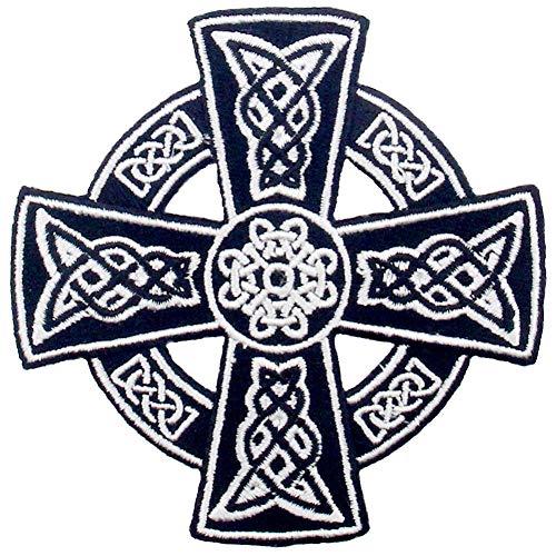 Cruz celta irlandesa gótica druidas Wicca pagana Parche Bordado de Aplicación con Plancha
