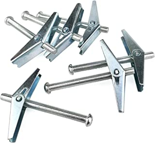 Bulk Hardware BH02497 Wing Toggle with Machine Screw Pack of 4 M6 x 50 mm Silver Tone 1//4 x 2