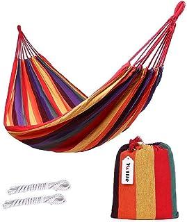 ValueHall extérieur Doux en Coton Tissu hamac brésilien Double Largeur 2 Personne Voyage Camping hamac