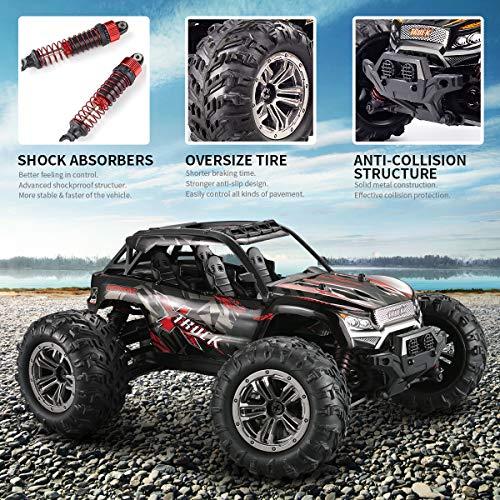 RC Auto kaufen Truggy Bild 5: Hosim Ferngesteuertes Auto 1:16, RC Offroad Car 4WD 36 km/h, Elektronischen Spielzeugauto für Kinder Und Erwachsen (Modellnummer: 9137, Rot)*