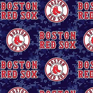 MLB Boston Red Sox Fleece Fabric Camo - 2 Yards