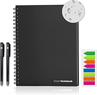 Sponsored Ad - Reusable Smart Notebook, WRIYES Letter Size Erasable Wirebound Notebook, Notebooks for Note Taking(Black)