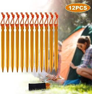spiaggia Rovtop per campeggio 12 picchetti per tenda in alluminio dorato esterni e sabbia