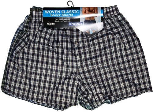 S2 Fashions - Boxer - Homme Multicolore Assorted Check - Multicolore - Assorted Check - Large