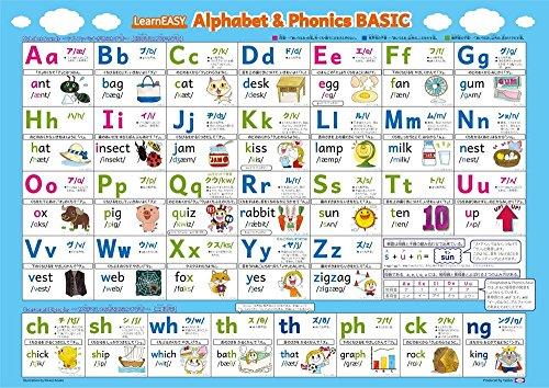 LearnEASY(ラーンイージー)『アルファベット&フォニックス表 ポスター ベーシック』