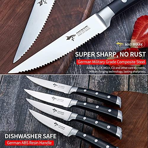 Steak Knife Set By MAD SHARK