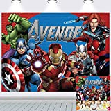 Avengers Background   Marvel Backdrop Superhero Birthday Boys Party Supplies Kids Banner Photography Decorations 7x5Ft