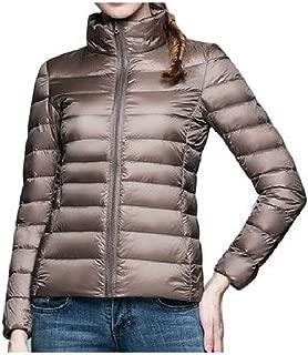 neveraway Womens Lightweight Stand Collar Plus Size Slim Down Puffer Coat