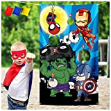 Superhero Party Bean Bags Toss Games Indoor Outdoor Family Games for Kids Adults Party Supplies Decoration for Kids Superhero Themed Birthday, Baby Shower