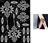 S330 - Plantillas para tatuajes Mehndi de henna, con purpurina o aerógrafo, tamaño grande, de uso único para el cuerpo