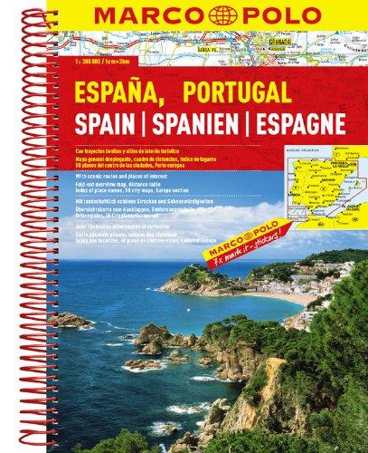 MARCO POLO Reiseatlas Spanien, Portugal 1:300.000: Mit landschaftlich schönen Strecken und Sehenswürdigkeiten (MARCO POLO Reiseatlanten)