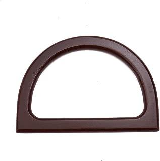 Monrocco 4 pcs Wooden Purse Handle Replacement for Handmade Bag Handbags Purse