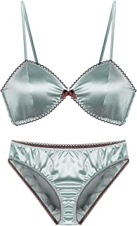 Care Bra Set Sexy French Retro Thin Bra, no Steel Ring, Adjustable Chest, Three Rows and Two Buckles. Close (Size : 70B=30...