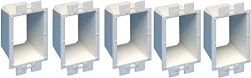 lowest 2 Pack of 5 Arlington Electrical Outlet Box Extender, 1-Gang, White Model BE1-5, Used for extending wholesale set back electrical boxes up to 1-1/2-inches, levels and supports wiring lowest device sale