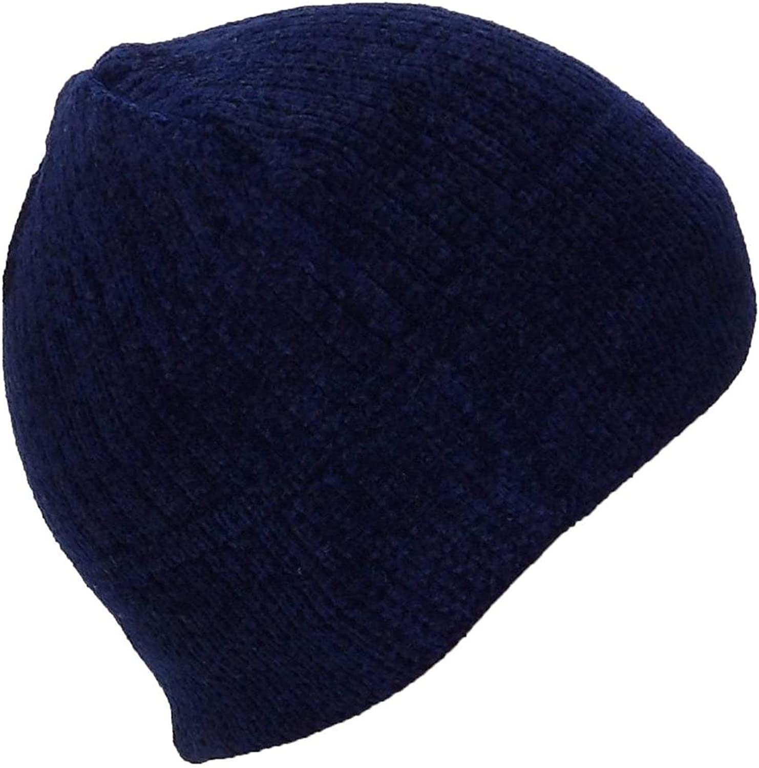 Best Winter Hats Women Chenille Solid Skull Cap W Fleece Lining(Small)