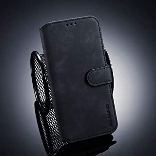 Phone case Retro Oil Side Horizontal Flip Case for Huawei Honor 10 Lite, with Holder & Card Slots & Wallet (Black) (Color : Black)